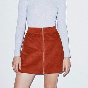 American Apparel Corduroy Zip Skirt